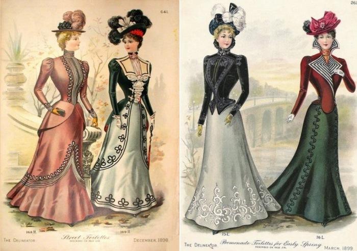Викторианская мода, 1898-1899