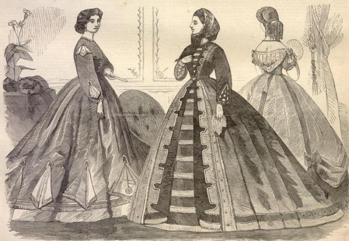 Модный силуэт викторианской эпохи