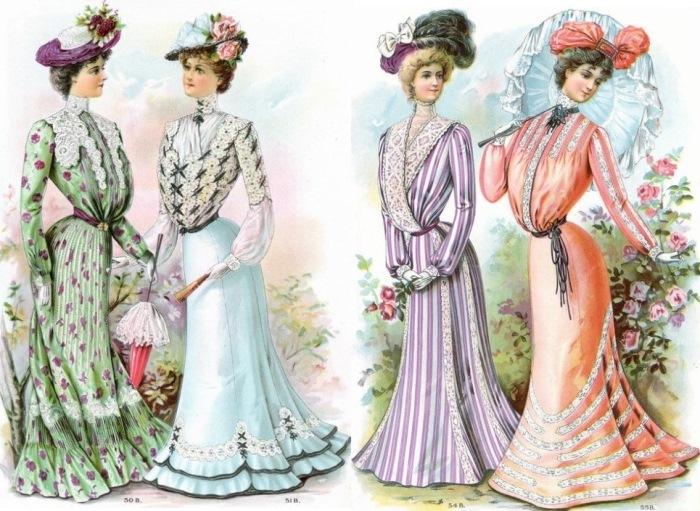 Женский костюм образца 1833 г.