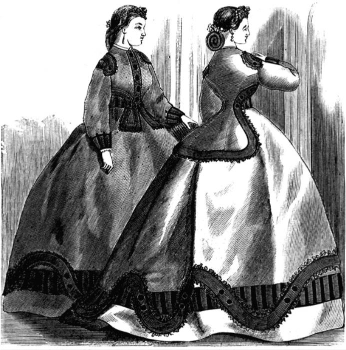 Пышные платья 1860-х