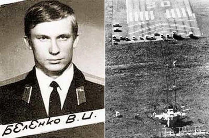 Истребитель, угнанный летчиком Виктором Беленко   Фото: vostokmedia.com и sekretmira.ru