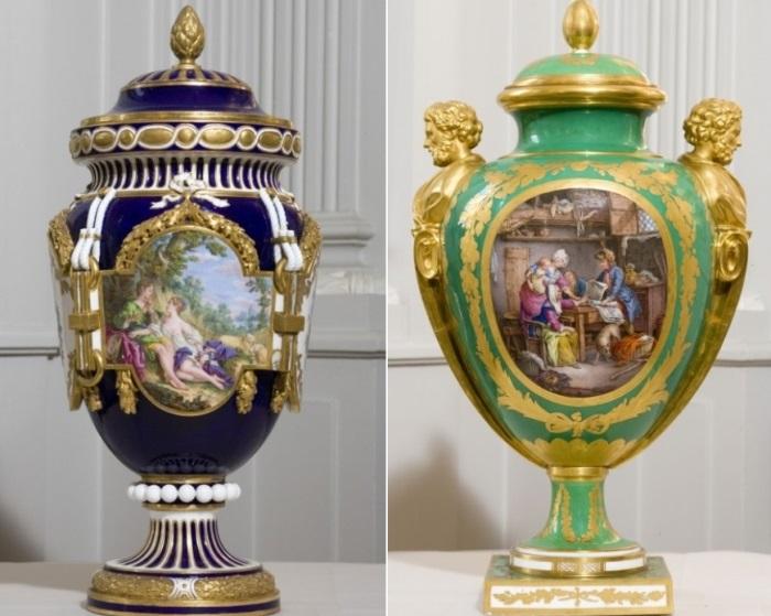 Вазы из севрского фарфора из коллекции баронессы Эфрусси де Ротшильд | Фото: villa-ephrussi.com