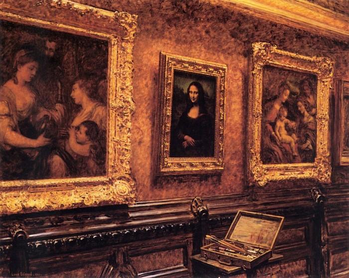 Луи Беру. *Мона Лиза* в Лувре | Фото: gallerix.ru