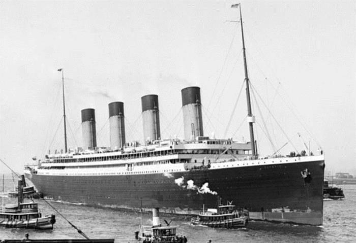 *Олимпик* впервые в Нью-Йорке 22 июня 1911 г.