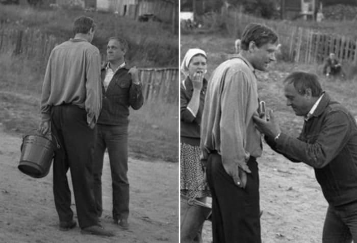 Владимир Меньшов на съемках фильма *Любовь и голуби* | Фото: bigpicture.ru