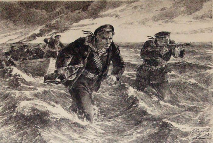 Владимир Серов. Верные долгу и чести, 1941 | Фото: liveinternet.ru