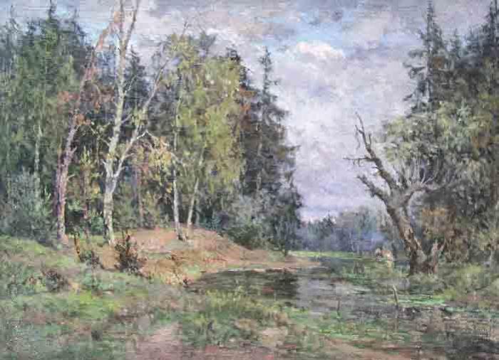 Владимир Серов. Осенний пейзаж, 1930-е гг.   Фото: gs-art.com