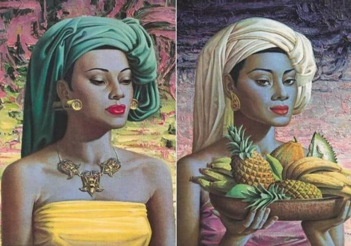Третчиков прожил в ЮАР около 60 лет и часто изображал на своих картинах местных жителей