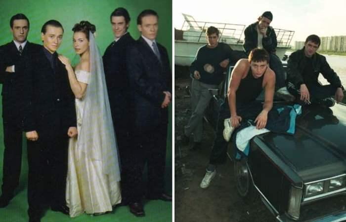 Главные герои сериала *Бригада*, 2002   Фото: kino-teatr.ru