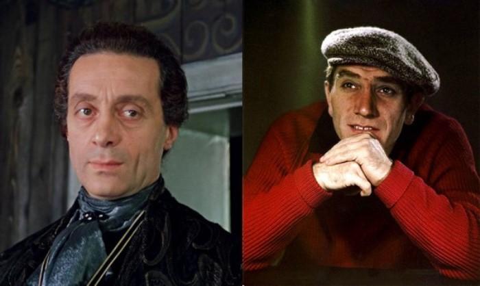 Нодар Мгалоблишвили в роли графа Калиостро и Армен Джигарханян, подаривший ему свой голос | Фото: dubikvit.livejournal.com