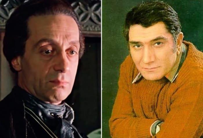 Нодар Мгалоблишвили в роли графа Калиостро и Армен Джигарханян, подаривший ему свой голос | Фото: sensum.club и kino-teatr.ru