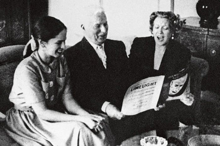 Любовь Орлова в гостях у Уны и Чарли Чаплина | Фото: lubov-orlova.ru