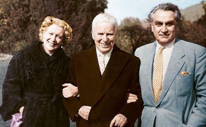 Любовь Орлова, Чарли Чаплин и Григорий Александров   Фото: lubov-orlova.ru