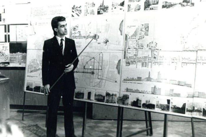Вячеслав Бутусов на защите диплома, 1984 | Фото: kp.ru