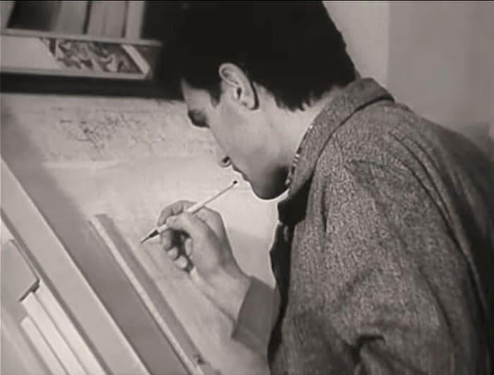 Вячеслав Бутусов на рабочем месте в проектном институте | Фото: dubikvit.livejournal.com