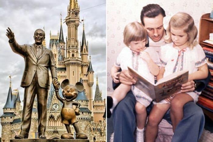 Уолт Дисней и предмет его гордости – две дочери и любимый персонаж Микки Маус | Фото: radikal.ru и chronoton.ru