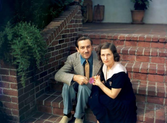 Уолт Дисней и его жена Лиллиан Бондс | Фото: liveinternet.ru