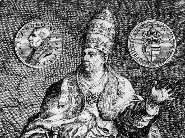 Скандально известный Папа Римский Александр VI