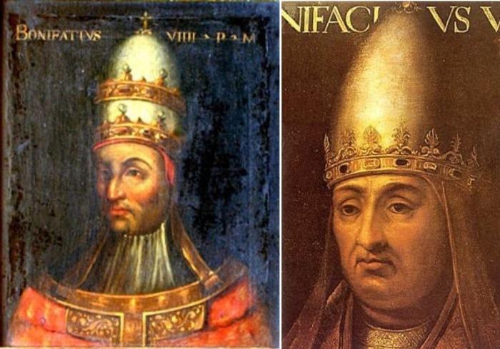 Данте Алигьери в *Божественной комедии* поместил Папу Бонифация VIII в 8-й круг ада за многолетнюю торговлю церковными должностями
