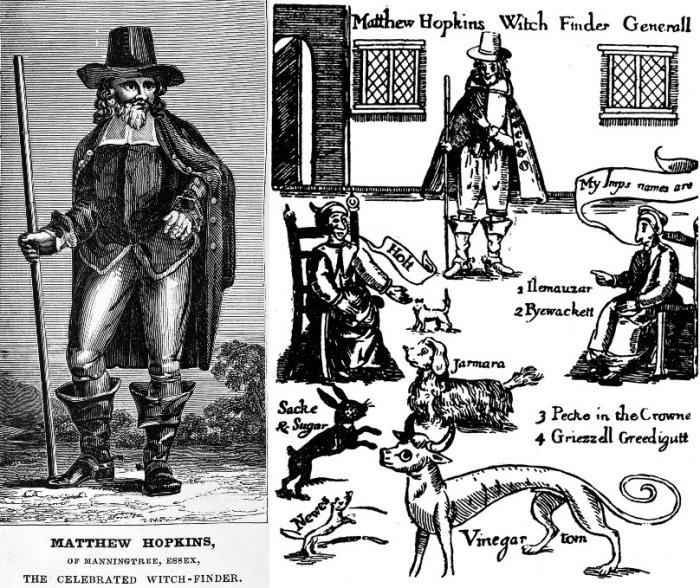 Мэтью Хопкинс и его книга *Раскрытие ведьм*