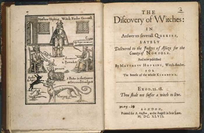 Книга Мэтью Хопкинса *Раскрытие ведьм*