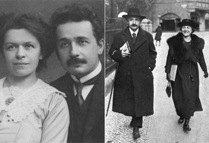 Альберт Эйнштейн и его жены | Фото: newokruga.ru и photochronograph.ru
