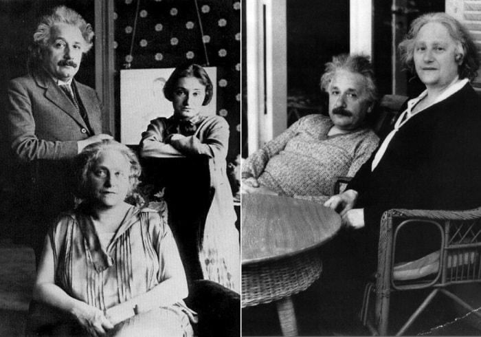 Эйнштейн, его вторая жена Эльза и приемная дочь Марго | Фото: photochronograph.ru и mind-temple.com