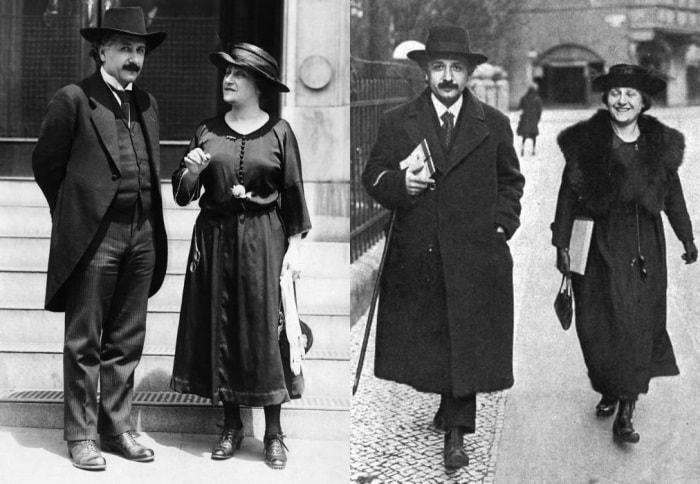 Эйнштейн со своей второй женой Эльзой, 1922 | Фото: photochronograph.ru и banzaj.pl