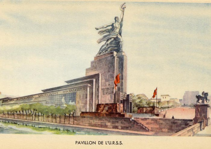 Советский павильон на выставке в Париже, 1937   Фото: yustas.com