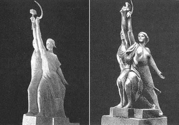 Проекты скульптуры В. Андреева и М. Манизера   Фото: vivovoco.ibmh.msk.su