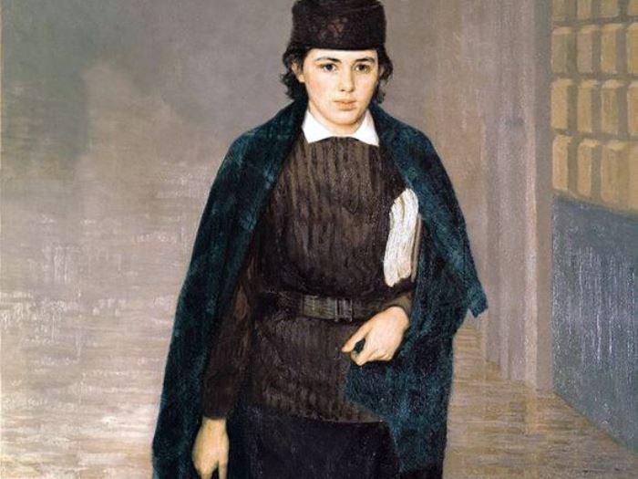 Н. Ярошенко. Курсистка, 1883. Фрагмент