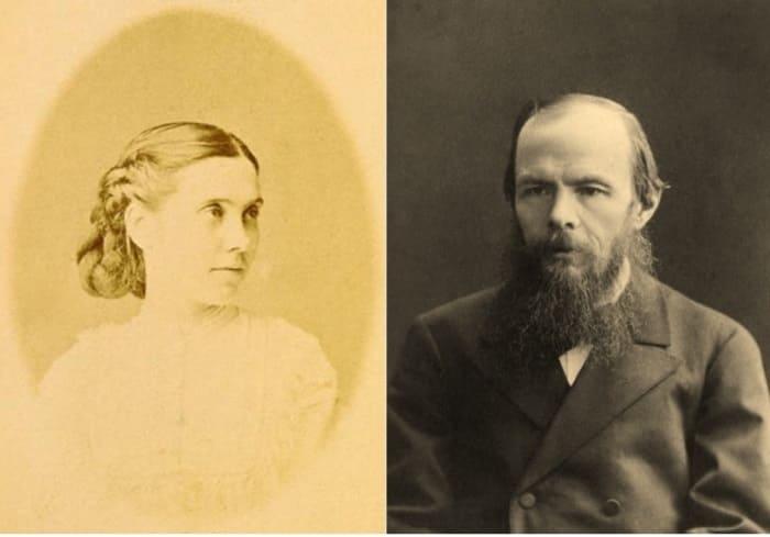 Слева – Аполлинария Суслова. Справа – Федор Достоевский | Фото: archive.fo
