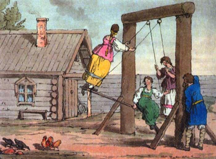 Дж. А. Аткинсон. Качели. 1800-е