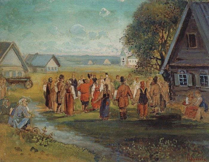 А. Саврасов. Хоровод в селе