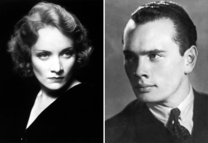 Марлен Дитрих и Юл Бриннер | Фото: kino-teatr.ru, history1.ru