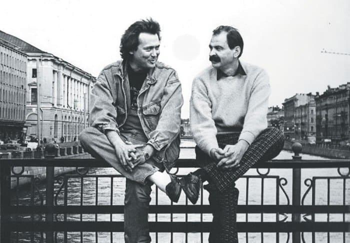 Юрий Стоянов и Илья Олейников. Санкт-Петербург, 1990-е гг.   Фото: tele.ru