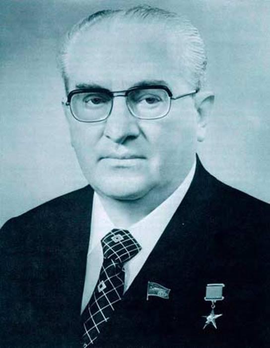 Юрий Владимирович Андропов, генеральный секретарь ЦК КПСС, 1982–1984 гг.