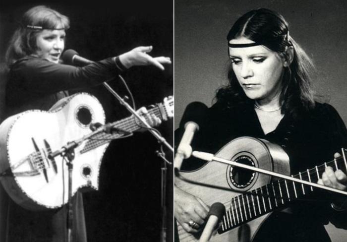 Бичевская всегда сама выбирала свой репертуар и не расставалась с гитарой | Фото: trackrusnew.ru и bichevskaya.ru