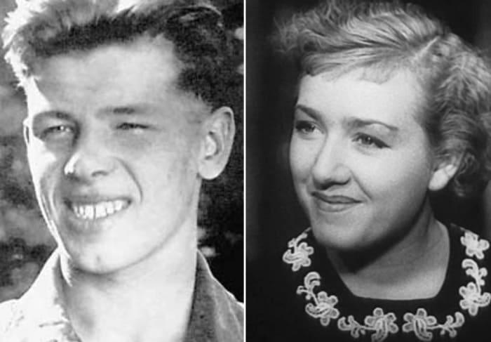 Георгий Жженов и его первая жена Евгения Голынчик | Фото: 24smi.org, 2aktera.ru