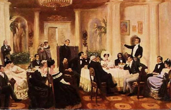 Г. Мясоедов. В салоне Зинаиды Волконской, 1907 | Фото: allpainters.ru
