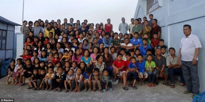 Зиона Чана и его огромная семья