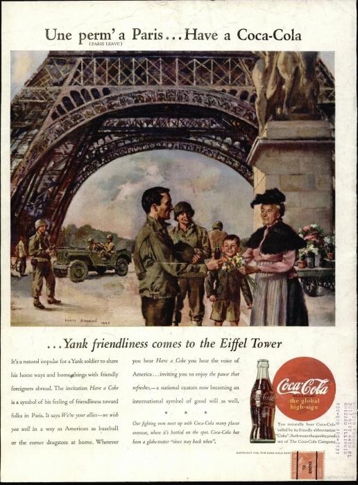 Реклама Coca-Cola в журнале