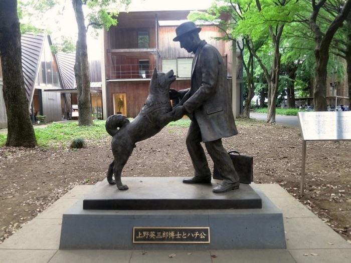 Хатико и его хозяин Хидэсабуро Уэно