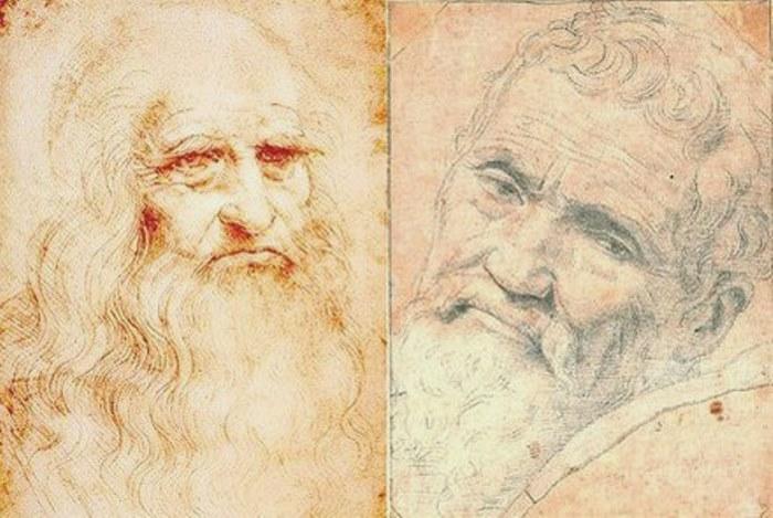 Леонардо да Винчи и Микеланджело Буонаротти