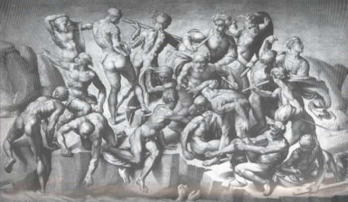 Копия картины Микеланджело