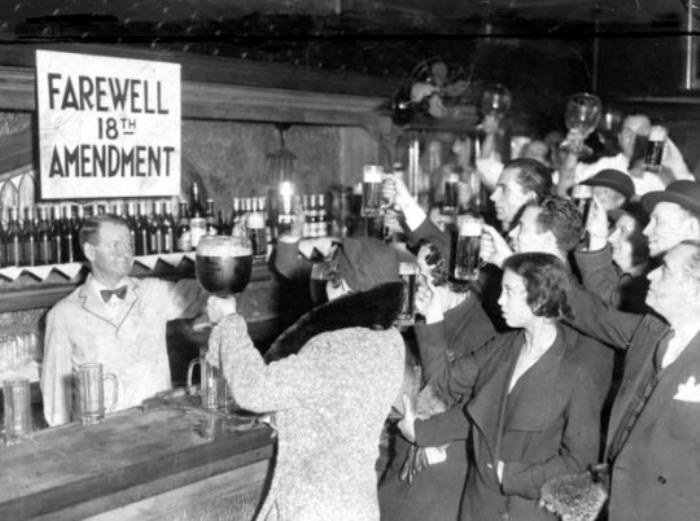 5 декабря 1933 г., счастливый день отмены сухого закона