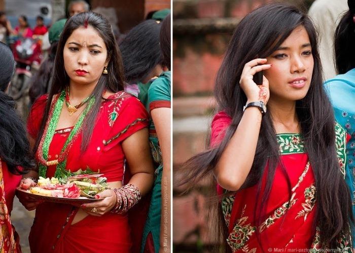 Индийские красотки на фестивале Тидж