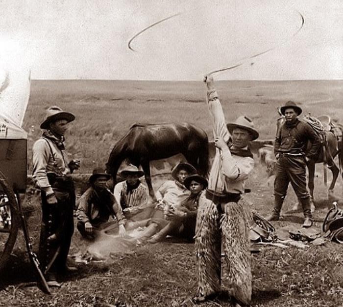 Трюки с лассо, Оклахома, 1905