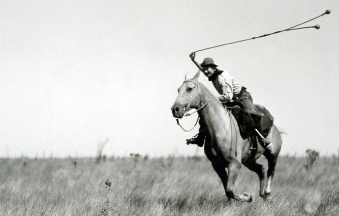 Трюки с лассо верхом на лошади