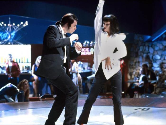 Танец джона траволты из фильма криминальное чтиво губка боб 3d игра
